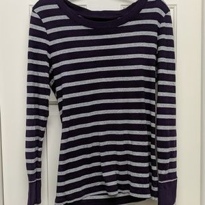 Gap Supersoft Purple and Gray Long sleeve shirt